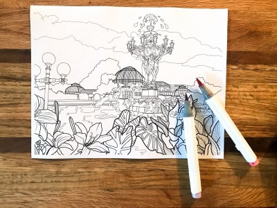 U.S. Botanic Garden coloring page by Becky Paxton