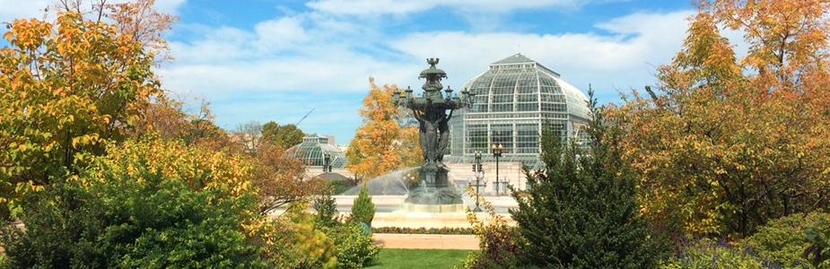 Fall Bartholdi Fountain and Conservatory